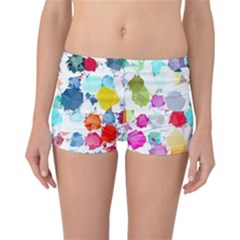 Colorful Diamonds Dream Reversible Boyleg Bikini Bottoms by DanaeStudio