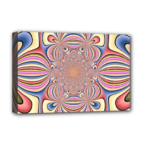 Pastel Shades Ornamental Flower Deluxe Canvas 18  X 12