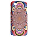 Pastel Shades Ornamental Flower Apple iPhone 4/4S Hardshell Case (PC+Silicone) View2