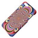 Pastel Shades Ornamental Flower Apple iPhone 5 Hardshell Case with Stand View4