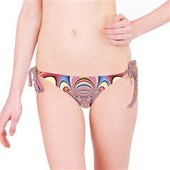 Pastel Shades Ornamental Flower Bikini Bottom