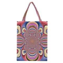 Pastel Shades Ornamental Flower Classic Tote Bag by designworld65