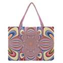 Pastel Shades Ornamental Flower Medium Tote Bag View1