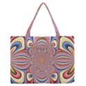 Pastel Shades Ornamental Flower Medium Zipper Tote Bag View1