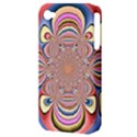 Pastel Shades Ornamental Flower Apple iPhone 4/4S Hardshell Case (PC+Silicone) View3