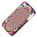 Pastel Shades Ornamental Flower Apple iPhone 4/4S Hardshell Case (PC+Silicone) View4
