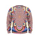 Pastel Shades Ornamental Flower Kids  Sweatshirt View1