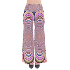 Pastel Shades Ornamental Flower Pants