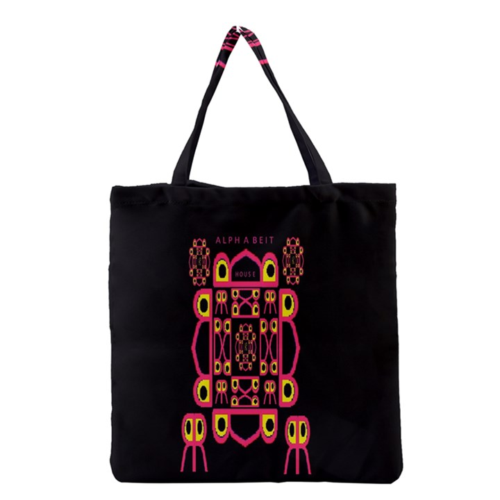 Alphabet Shirt Grocery Tote Bag