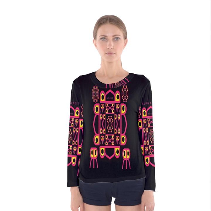 Alphabet Shirt Women s Long Sleeve Tee