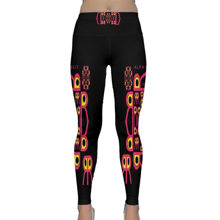 Alphabet Shirt Yoga Leggings