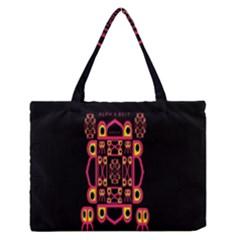 Alphabet Shirt Medium Zipper Tote Bag by MRTACPANS