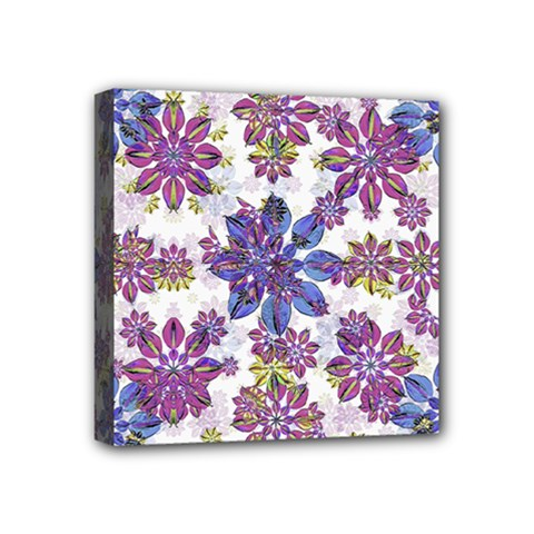 Stylized Floral Ornate Pattern Mini Canvas 4  X 4  by dflcprints