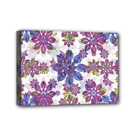 Stylized Floral Ornate Pattern Mini Canvas 7  x 5