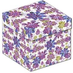 Stylized Floral Ornate Pattern Storage Stool 12