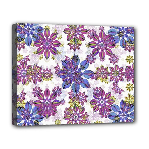 Stylized Floral Ornate Pattern Deluxe Canvas 20  X 16