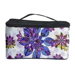 Stylized Floral Ornate Pattern Cosmetic Storage Case