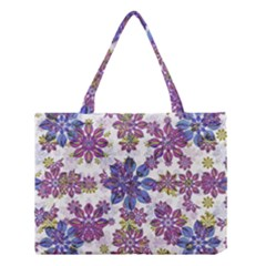 Stylized Floral Ornate Pattern Medium Tote Bag by dflcprints