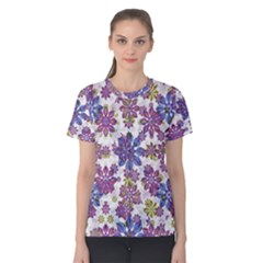 Stylized Floral Ornate Women s Cotton Tee