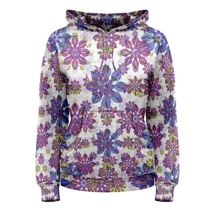 Stylized Floral Ornate Women s Pullover Hoodie