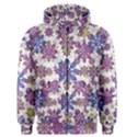 Stylized Floral Ornate Men s Zipper Hoodie View1