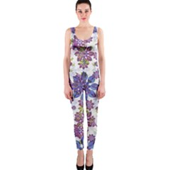 Stylized Floral Ornate Onepiece Catsuit