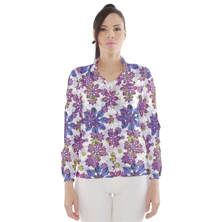 Stylized Floral Ornate Wind Breaker (Women)
