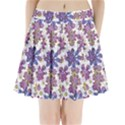 Stylized Floral Ornate Pleated Mini Skirt View1