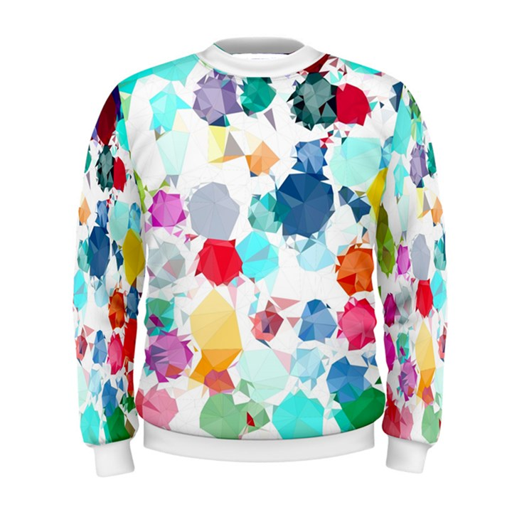 Colorful Diamonds Dream Men s Sweatshirt