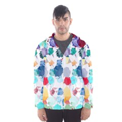 Colorful Diamonds Dream Hooded Wind Breaker (men) by DanaeStudio