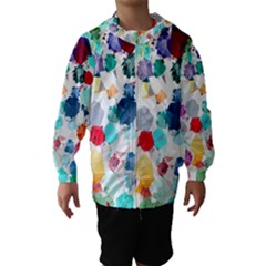 Colorful Diamonds Dream Hooded Wind Breaker (kids)