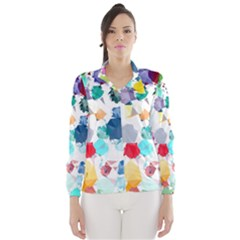 Colorful Diamonds Dream Wind Breaker (women) by DanaeStudio