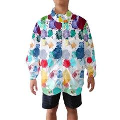 Colorful Diamonds Dream Wind Breaker (kids) by DanaeStudio