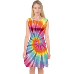 Tie Dye Capsleeve Midi Dress by Wanni