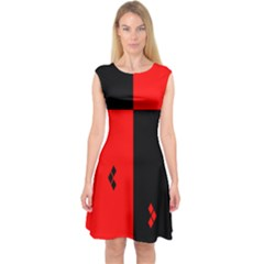 Hharley Quinn Capsleeve Midi Dress by Wanni