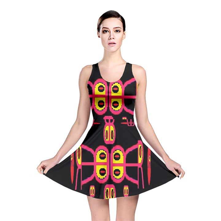 Alphabet Shirt R N R Reversible Skater Dress
