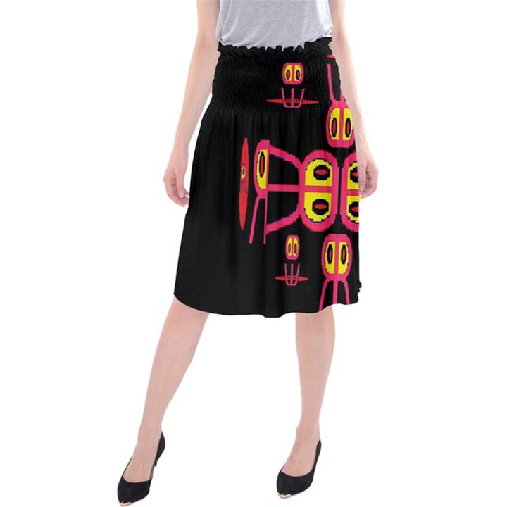 Alphabet Shirt R N R Midi Beach Skirt