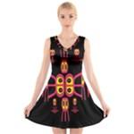 Alphabet Shirt R N R V-Neck Sleeveless Skater Dress