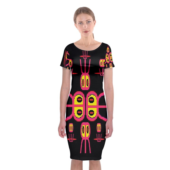 Alphabet Shirt R N R Classic Short Sleeve Midi Dress
