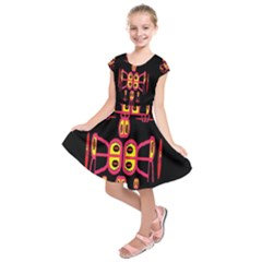 Alphabet Shirt R N R Kids  Short Sleeve Dress by MRTACPANS