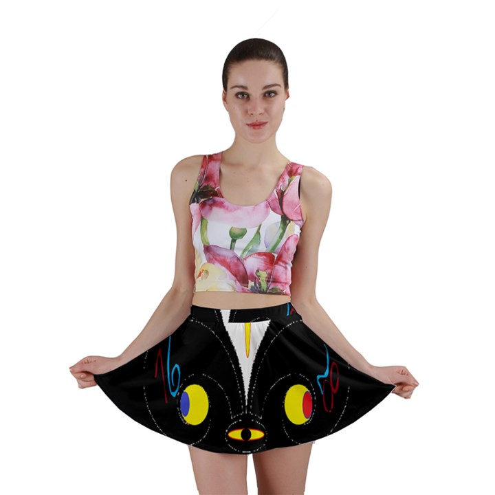 FLOWER OF LIFE TWO Mini Skirt