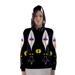 FLOWER OF LIFE TWO Hooded Wind Breaker (Women)