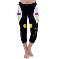 FLOWER OF LIFE TWO Capri Winter Leggings
