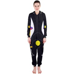 FLOWER OF LIFE TWO Hooded Jumpsuit (Ladies)