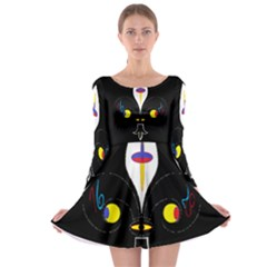 Flower Of Life Two Long Sleeve Skater Dress by MRTACPANS