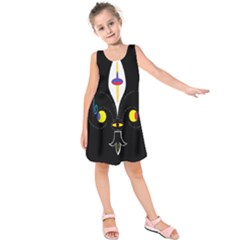 FLOWER OF LIFE TWO Kids  Sleeveless Dress