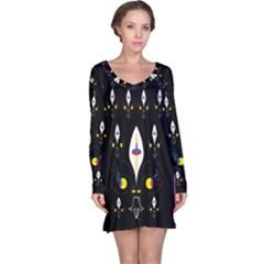 Clothing (25)gee8dvdynk,k;; Long Sleeve Nightdress