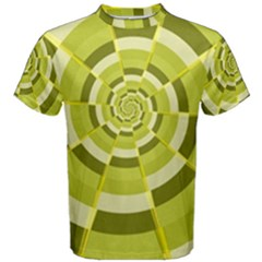 Crazy Dart Green Gold Spiral Men s Cotton Tee by designworld65