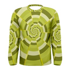Crazy Dart Green Gold Spiral Men s Long Sleeve Tee