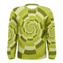 Crazy Dart Green Gold Spiral Men s Long Sleeve Tee View1